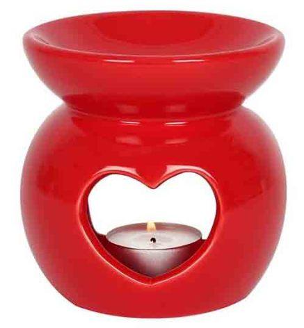 Aromalampa Hjärta Röd
