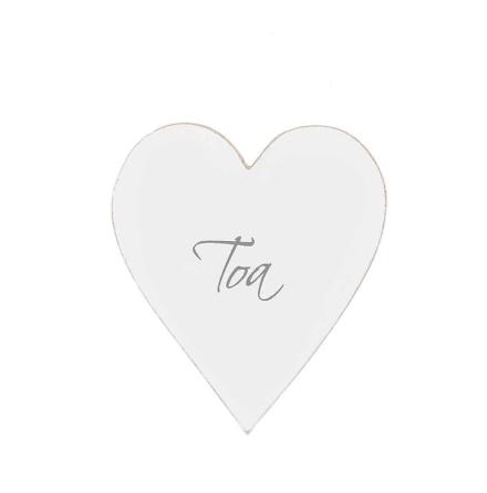 Dörrskylt Hjärta TOA