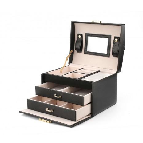 Svart Smyckeslåda/Juvelbox