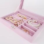 Rosa Smyckeslåda med lock