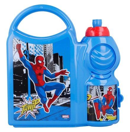 Matlåda med vattenflaska Spindelmannen